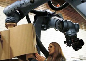 Suprastudio student works with robots