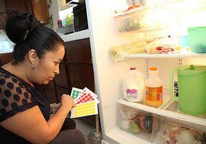 Refrigerator with healthy food