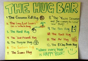 Hug bar menu