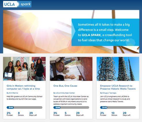 UCLA Spark website screen grab