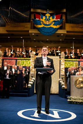 Randy Schekman at Nobel Prize ceremony