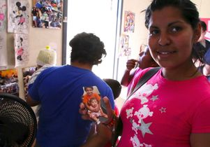 Mother at UCLA clinic in Mexico