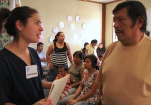 Volunteer student and patient Enrique Juarez Gonzalez