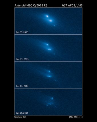 Disintegration of an asteroid