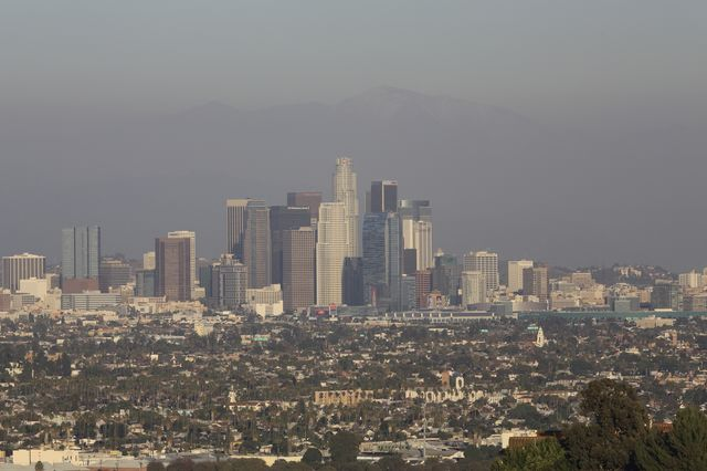 Smoggy Los Angeles