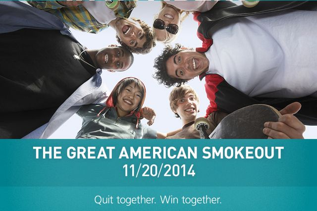 PPoster on the 2014 Great American Smokeout