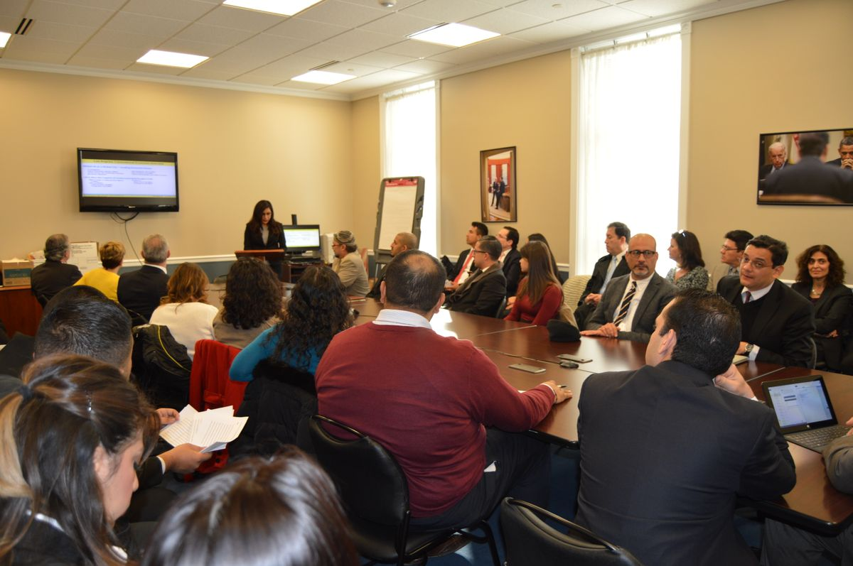 A Chicana/o studies student presents data at White House