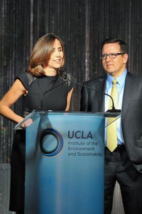 Tina Quinn and Tony Pritzker