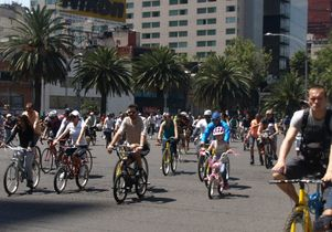Bicyclists in Mexico