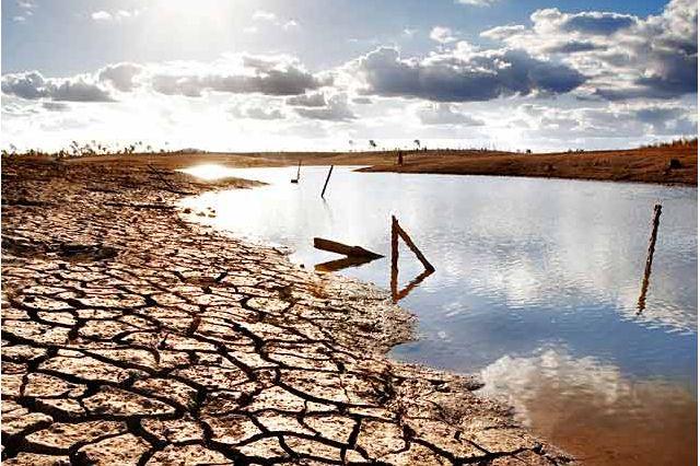 Drought scene in California