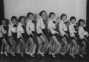 Click to open the large image: Nisei tap dancers