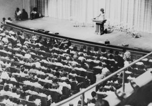 Angela Davis lectures in Royce Hall