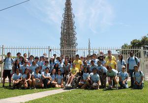 UCLA volunteers at Watts Towers