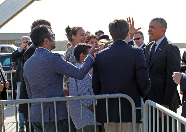 President Obama with UCLA students
