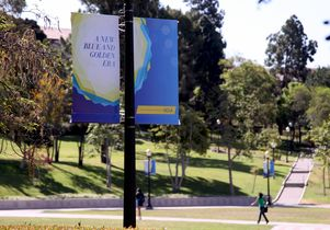 Click to open the large image: Banners for The Centennial Campaign for UCLA