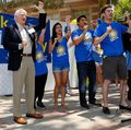 Students, staff gather for Thank UCLA Day and launch of Centennial Campaign