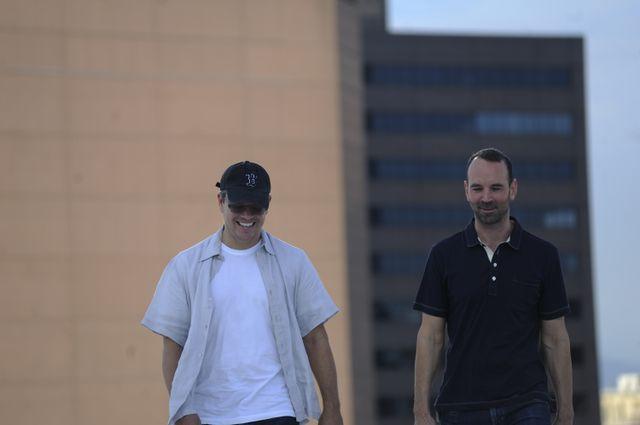 Matt Damon and Prof. Alex Hall