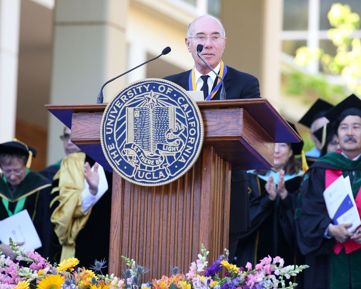 David Geffen at the Hippocratic Oath ceremony