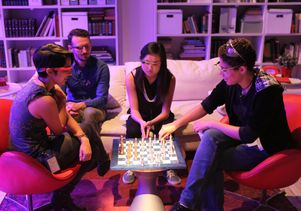 Click to open the large image: Google Glass chess playing