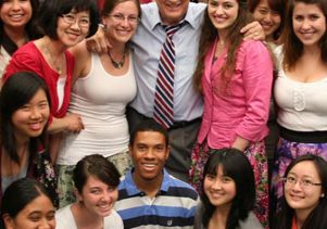 Click to open the large image: Donald Neuen, colleagues and students