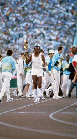 Rafer Johnson, gold medalist and 1959 UCLA graduate