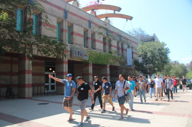 Veterans tour UCLA