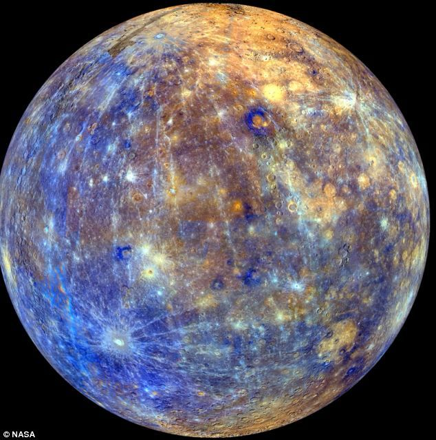 Mercury, with colors enhanced