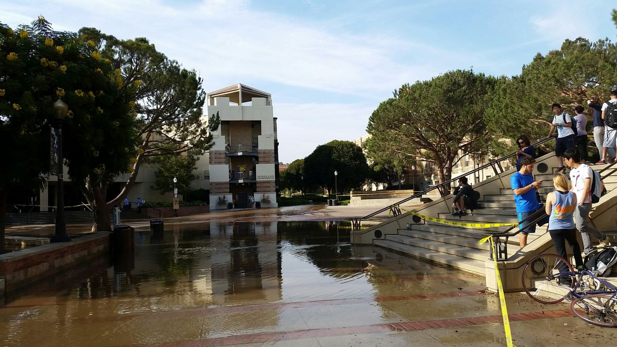 UCLA flooding