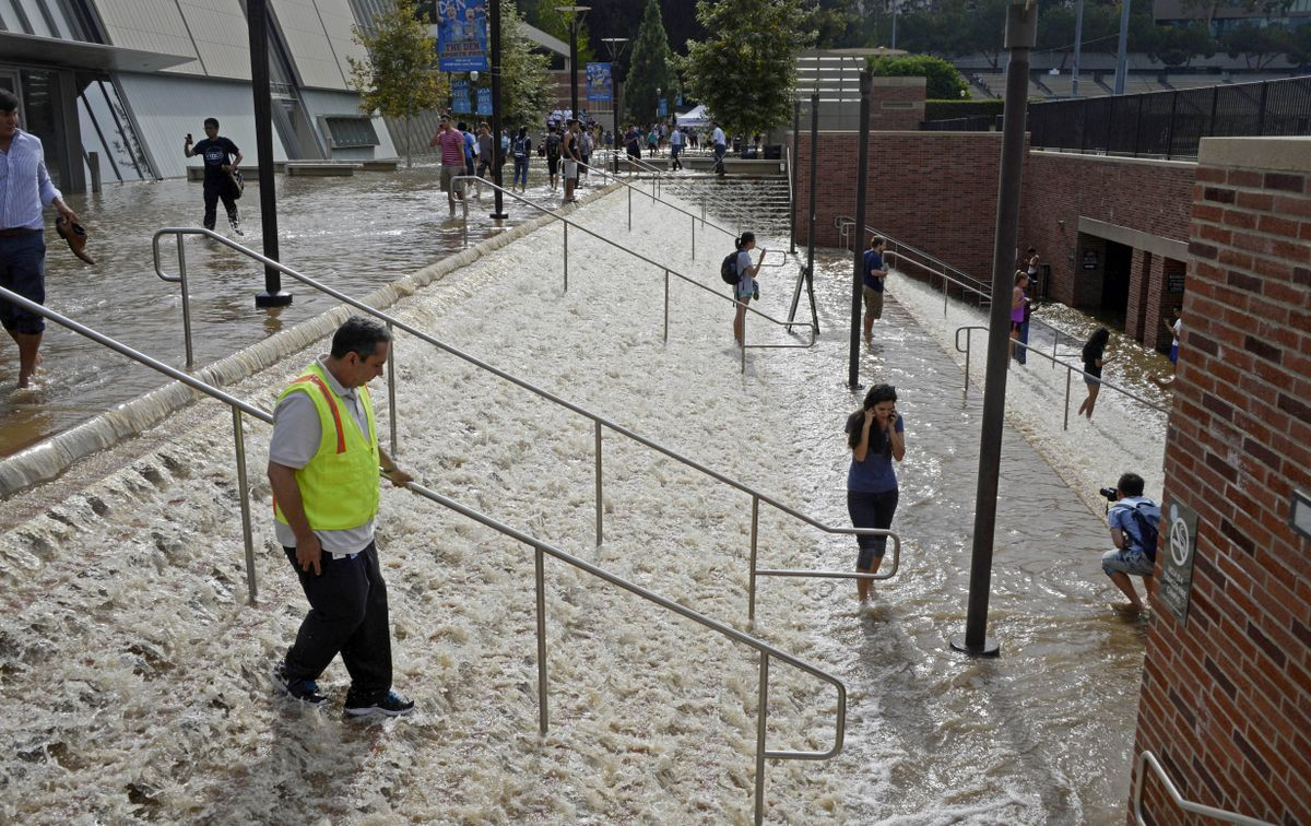 UCLA Flooding stairs to parking