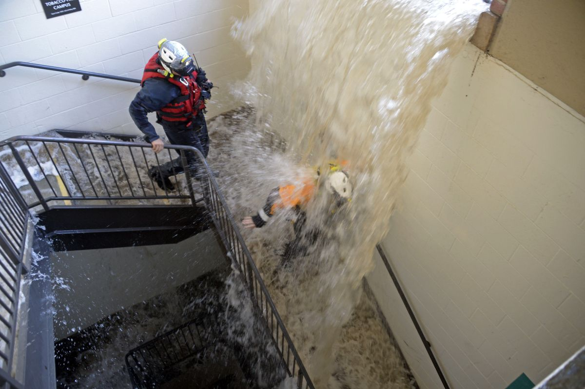 UCLA Flooding stairwell