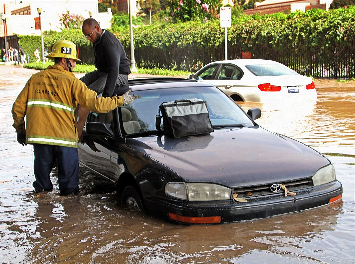 UCLA Flooding car rescue