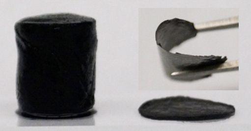 Holey graphene framework