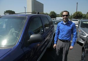 Happy car owner