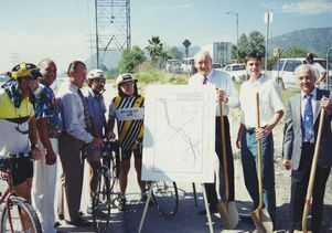 Los Angeles River bike path ceremony