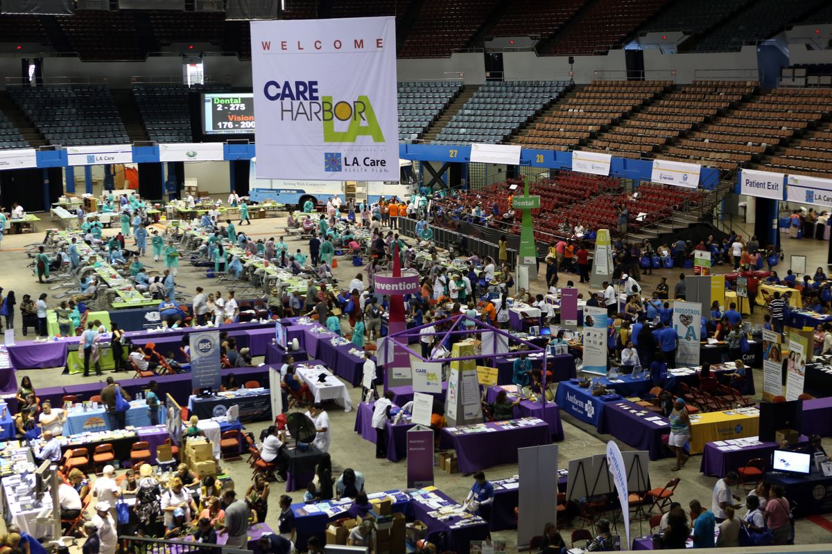 2014 Care Harbor free health clinic at L.A. Sports Arena