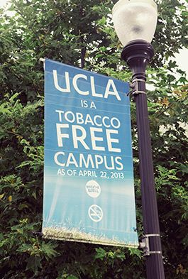 Banner for a smoke-free campus