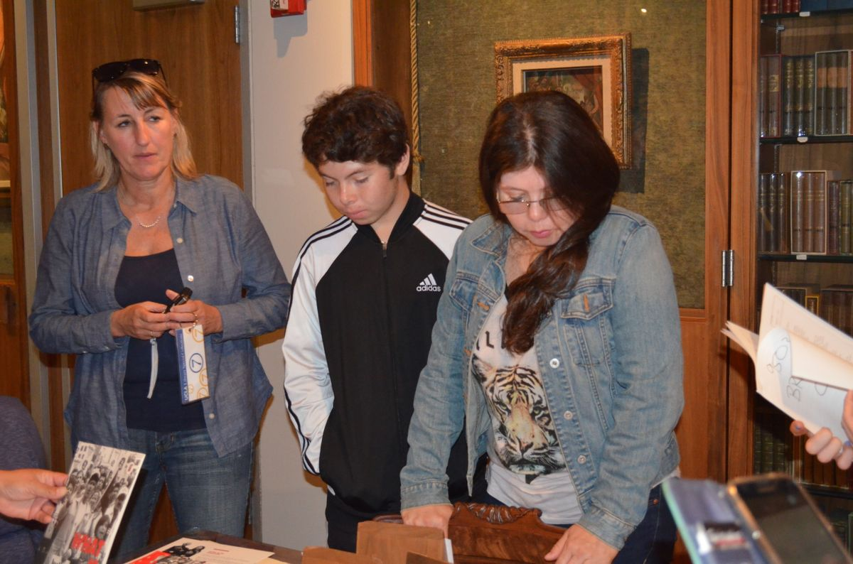 Marcia Gomez and her son Jonathan Abrego and Janna Shadduck-Hernandez