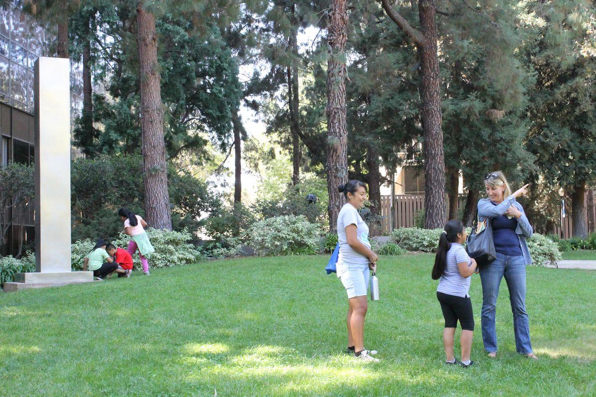Parent, child tour the Sculpture Garden