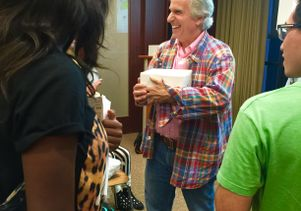 Henry Winkler and students