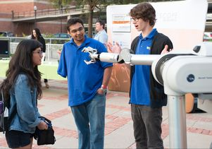 Click to open the large image: UCLA students with the UCLA Biomechatronics Lab