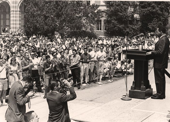 Martin Luther King Jr. speaks at UCLA in 1965