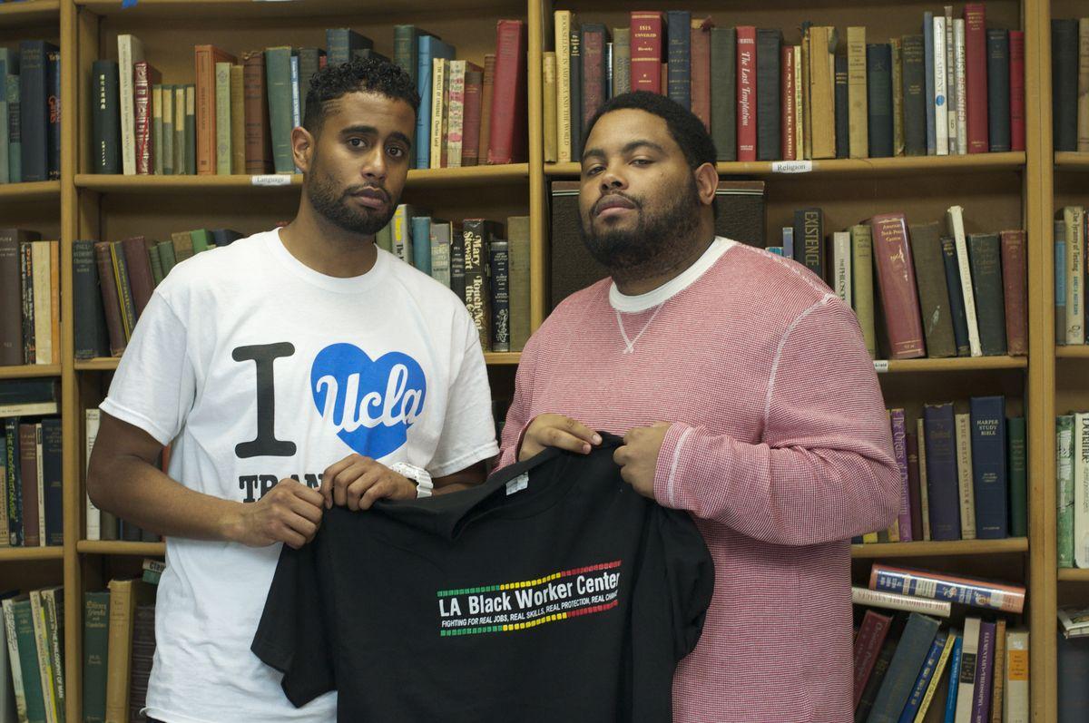 UCLA students Robert Jackson (left) and Ervin Rowe