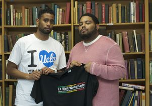 Click to open the large image: UCLA students Robert Jackson (left) and Ervin Rowe
