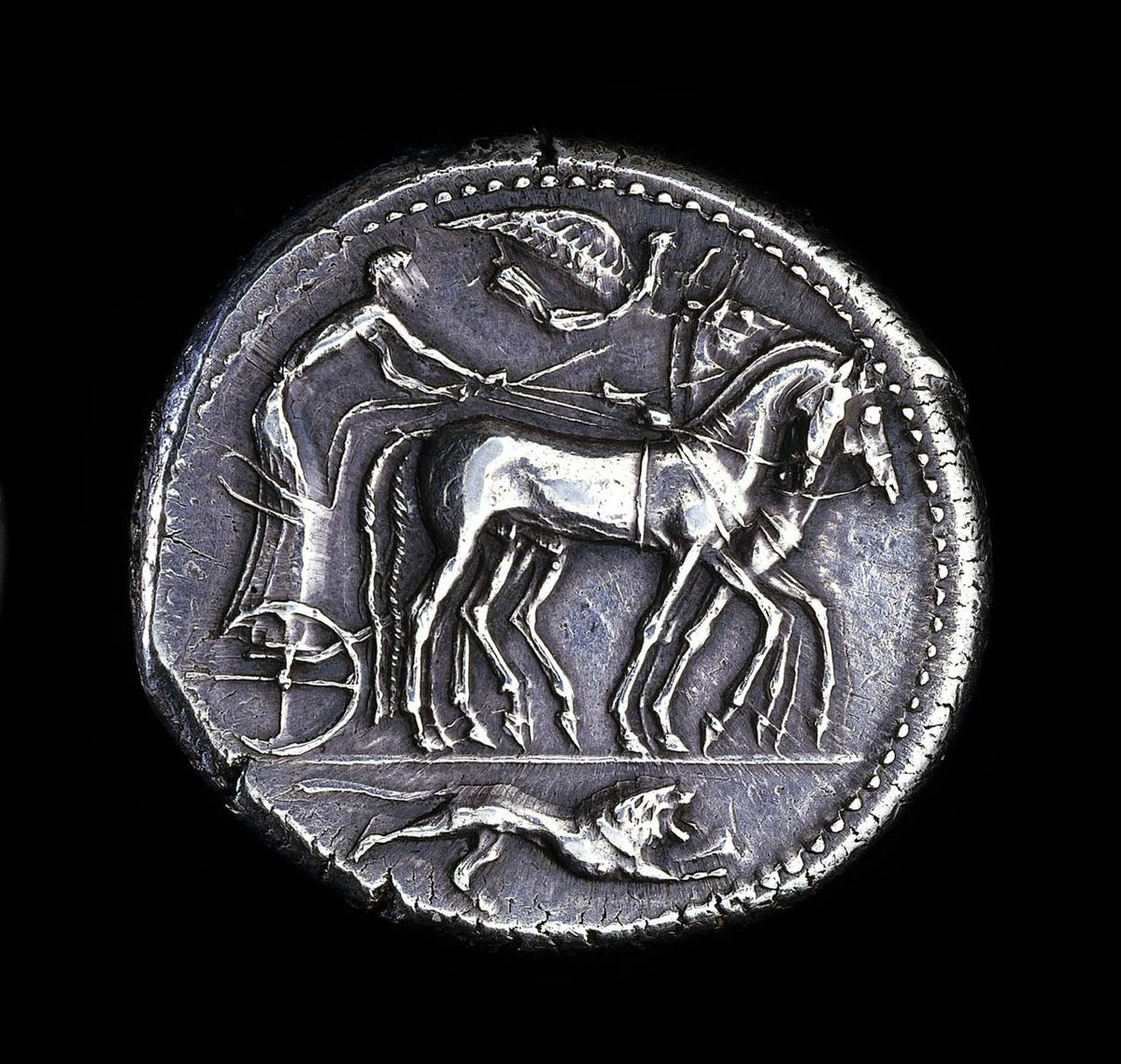 Silver coin from fifth century B.C. Syracuse