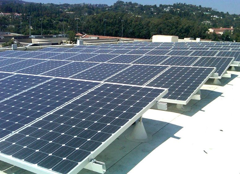 Solar panels on UCLA's Ackerman Union