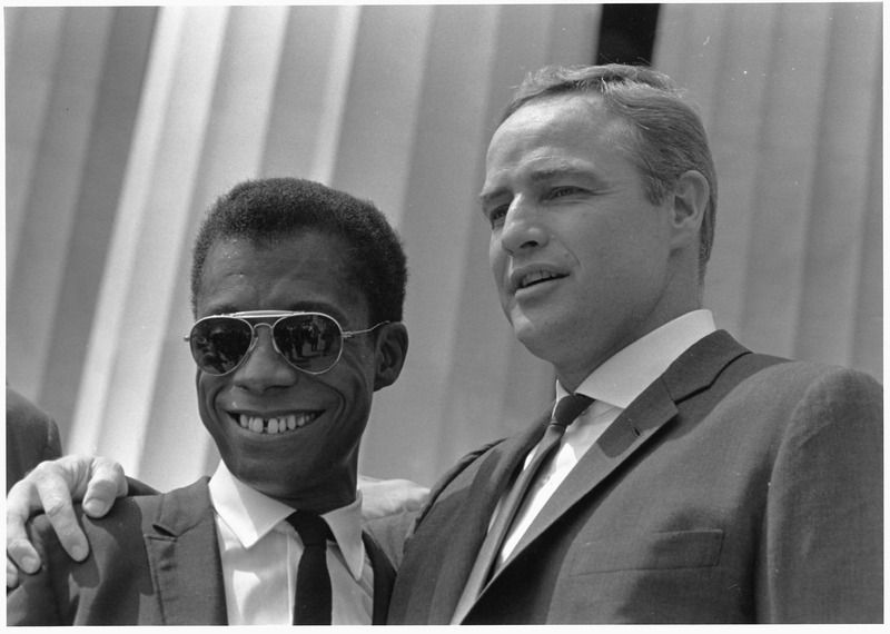 James Baldwin and Marlon Brando