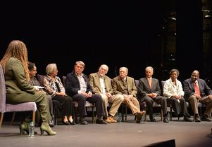 Cheryl Harris moderates a panel of UCLA Freedom Riders