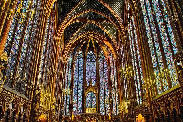 Interior of Sainte-Chapelle