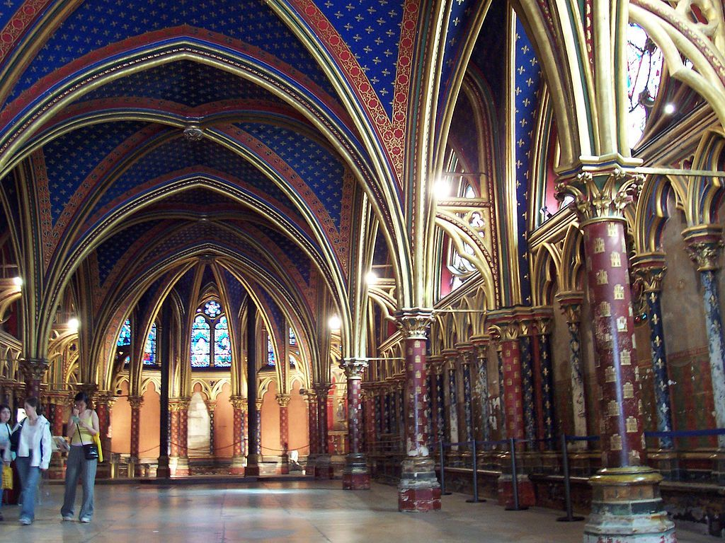 Lower section of the Sainte-Chapelle