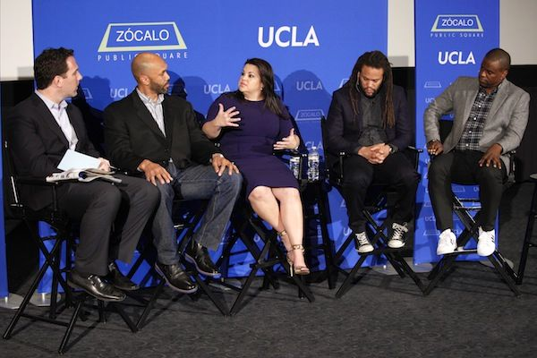 "Panel at a ""Thinking L.A."" event discussing diversity in Hollywood"